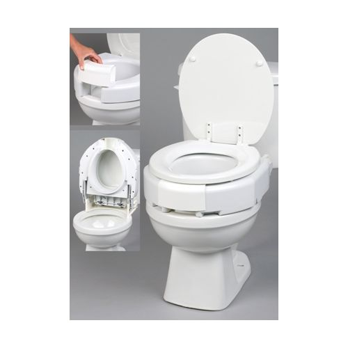 Image For Ableware Secure Bolt Hinged Elevated Toilet Seat
