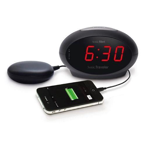 Sonic Alert Sonic Traveler Travel Alarm Clock Bed Shaker Model 083 6182