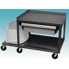 Parabath Paraffin Service Cart - 2 Shelf W/Drawer