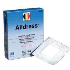 "Alldress Absorbent Film Dressing - 6 x 8"", (4 x 6 pad)"