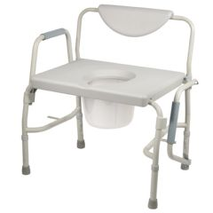 Drive Deluxe Bariatric Drop Arm Commode