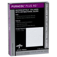 Puracol Plus AG+ Collagen Wound Dressing with Antibacterial Silver