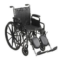 Mckesson by Drive McKesson Standard Carbon Steel Wheel Chair - Silver