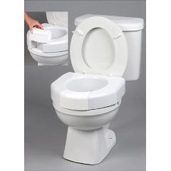 Maddak Basic Open Front Raised  Elevated Toilet Seat w/ Closed Front Option