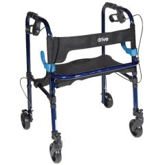 "Drive Clever-Lite Junior Walker with Seat and Loop Locks 5"" Casters"