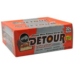 Detour Low Sugar Forward Foods Detour Low Sugar Deluxe Whey Protein Energy Bar - Caramel Peanut
