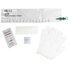 PECO Elite Touch-Free Closed Catheter Kit, Coude Tip 14fr