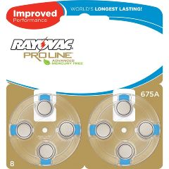 Spectrum Brands Inc Rayovac Proline Advanced Mercury-Free Hearing Aid Batteries 40/Box Size 675