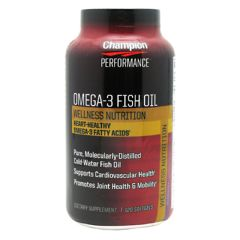 Wellness Mat Inc. Champion Nutrition Wellness Nutrition OMEGA 3 Fish Oil