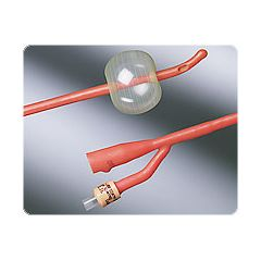 Bardex I.C. Red Rubber Tiemann Coude Foley Catheter - 2-way, 5cc
