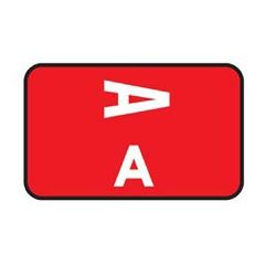 Patterson Office Supplies Laminated Alpha Labels A-Z Box, 100/Pkg