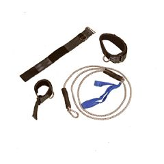 Cando Exercise Bungee Cord - Carabiner, Loop and Door Jamb