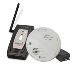 Silent Call Communications Silent Call Signature Series Carbon Monoxide Detector with Transmitter