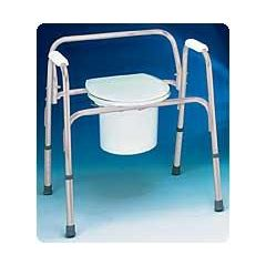 Carex Extra-Wide Bedside Steel Commode