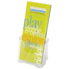 """Deflect-O Corp Clear Lucite Brochure Holder For 4""""X9"""" Material"""