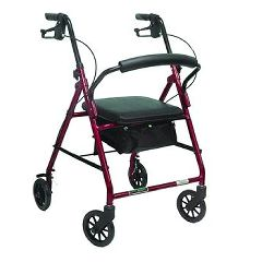 PMI Inc. ProBasics Economy Rollator with Loop Brakes and Pouch