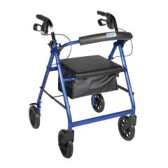 Drive Rollator Walker with Fold Up and Removable Back Support and Padded Seat