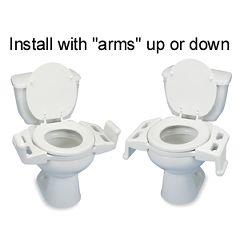 Reversible Toilet Transfer Seat (RTTS)  - OPTIONAL HARDWARE KIT ONLY