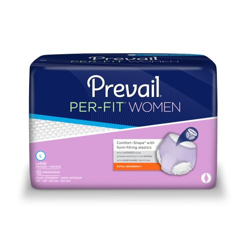 Prevail - First Quality PER-FIT Women's Protective Underwear - Moderate Absorbency for Incontinence