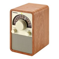Sangean AM/FM Table Top Wooden Radio,Walnut