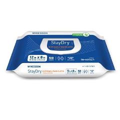 Stay-Dry Performance Plus 8 X 12 Inch Disposable  Washcloths Fresh Scent  Softpack.