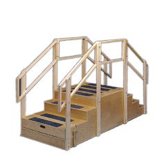 "Bailey Manufacturing Training Stairs, Straight With 8 Steps With Platform, 36"" Wide"