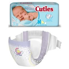 Prevail Cuties Premium Baby Diapers - Size Newborn