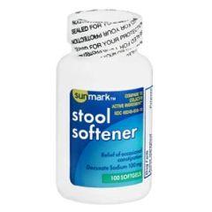 Sunmark Stool Softner Softgel Capsules - 100 mg