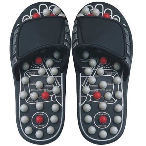 AB Marketers LLC Reflexology Sandals - Black and Pearl