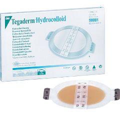 "3M Tegaderm Hydrocolloid Dressing - Oval 2-3/4"" x 3-1/2"""