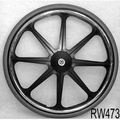"New Solutions 24 x 1 3/8"" Mag Recessed Hub Wheel"