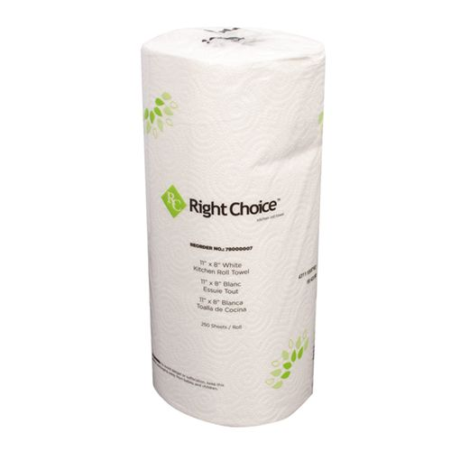 Right Choice™ Kitchen Towel Roll 2-Ply  Model 770 0049 Pack of 12