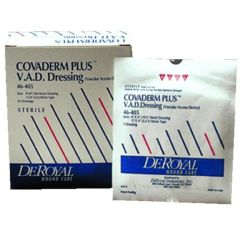 "DeRoyal COVADERM PLUS V.A.D. Island Dressing - overall 4 x 4"", pad 2 x 2"""