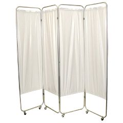 Fabrication King Size 3-Panel Privacy Screen With Casters