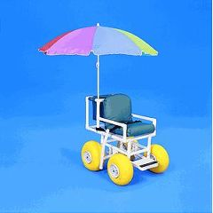Healthline ROLLEEZ All-Terrain Chair with Multi-Color Umbrella