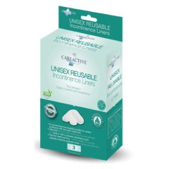CareActive Unisex Reusable Incontinence Liners-Pack of 3