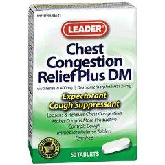 Cardinal Health Leader Guaifenesin DM Tablets 400 mg 50 Count