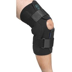 Wrap Around Neoprene Knee Brace w/Open Patella and Metal Hinges