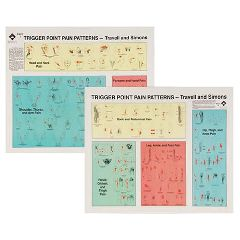 Lippincott Travell Trigger Point Wall Chart Set Of 2 Laminate