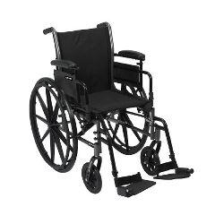 McKesson Lightweight Wheelchair with Detachable, Flip-Back Desk Arms