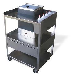 Ideal Service Center Cart With Drawer For E1 Hydrocollator Unit