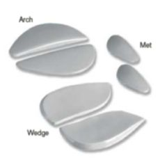 AliMed Viscolas Solid Polyurethane Orthex Relievers - Heel Wedges