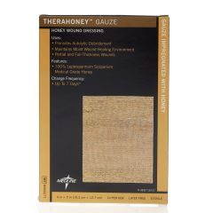 "TheraHoney Gauze Honey Sheet Dressing 4"" x 5"""