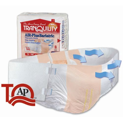 "Tranquility AIR-Plus Bariatric Brief - 70"" - 106"" Waist Size"