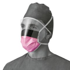 Fluid-Resistant Surgical Face Masks with Eyeshield