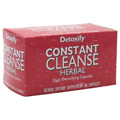 Detoxify LLC Constant Cleanse Herbal Daily Detoxifying Dietary Supplement 60 Capsules