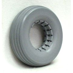 "New Solutions 1/4 Urethane Rib Caster Tire 8"" x 2 1/4"" Fits Most 2-Piece Wheels"