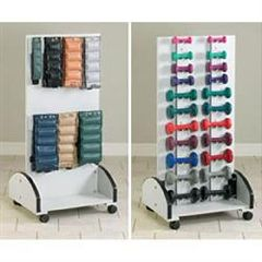 Clinton Industries Mobile Cuff Weight & Dumbbell Rack