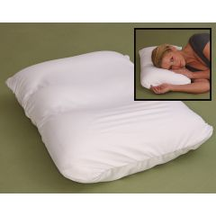 Deluxe Comfort Cloud Microbead Neck & Head Support Pillow - White