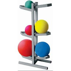 "Cando Plyometric Ball Rack - Two-Sided - Holds 6 Balls - 20""W X 12""D X 32""H"